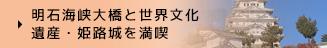 明石海峡大橋と世界文化遺産・姫路城を満喫